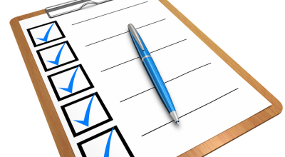 Checklist - make one when buying a house