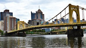 Image of a bridge in Pittsburgh.