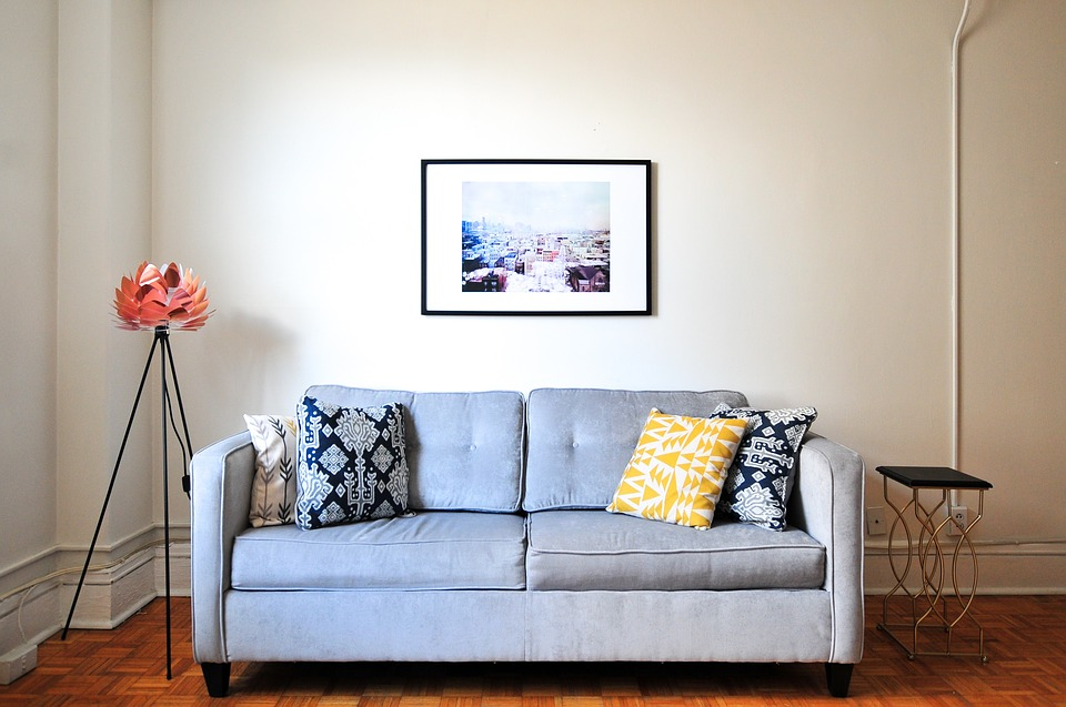 couch and a picture-living room