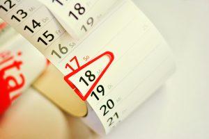Dates in calendar