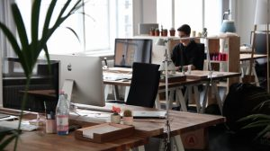 Best office spaces in Indiana - man in the office