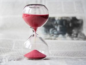 Hourglass - When you are ready, you will know - that is the best time for buying your first house in Massachusetts.