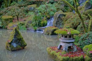 A Japanese Garden in Portland - the opportunity to visit it regularly is one of the benefits of moving to Portland