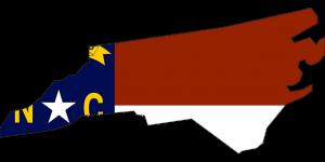 The map of North Carolina