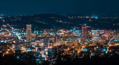 The Portland cityscape.