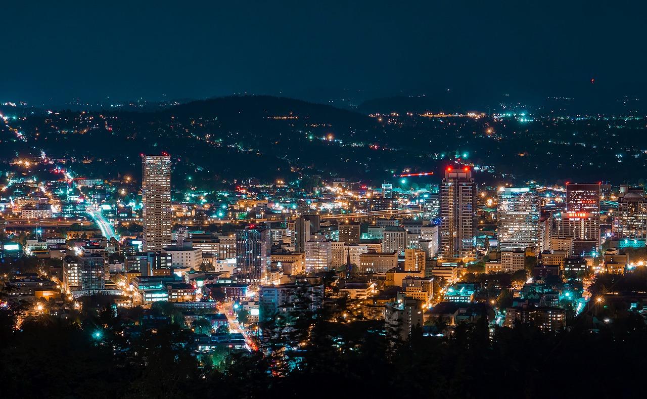 The Portland cityscape.