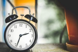 Clock - Depending on how prepared you are, you will know when is the best time to relocate.
