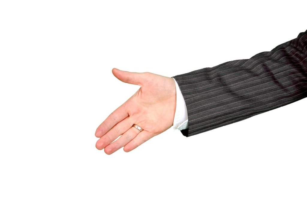 one hand ready for a handshake shake - Buying a home without a real estate agent