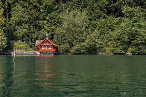 A lake house.