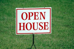 Open house sign .