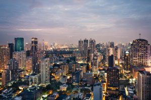 A view of the city of Bangkok, one of the cities to consider when exploring Asian real estate market.