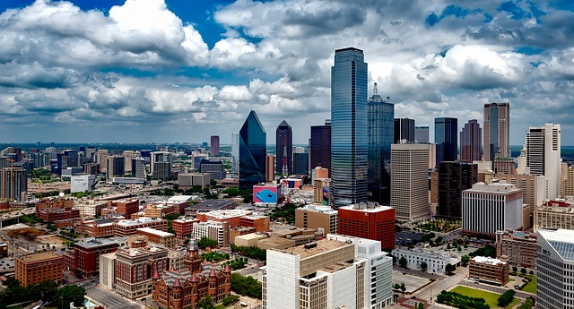 A cloudy but still bright day in Dallas is one of the reasons to opt for buying your first house in Texas.