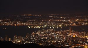 The city of Penang by night.