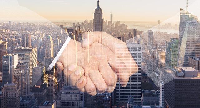 Shaking hands when buying a loft in Manhattan