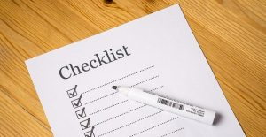 A moving checklist to prepare for moving to another state.