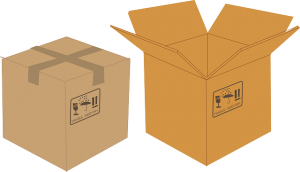 Cardboard boxes - Make sure you get some tips on labeling your moving boxes.
