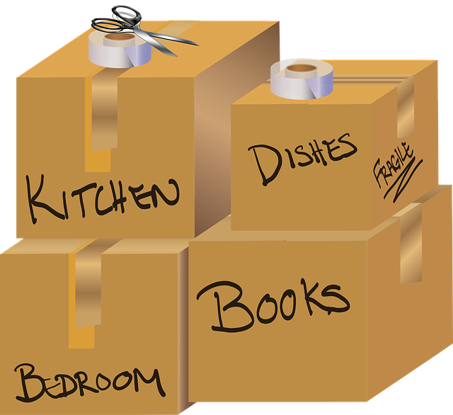 Labeled moving boxes - Use some tips on labeling your moving boxes.
