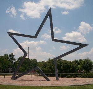 A star sculpture in Texas.