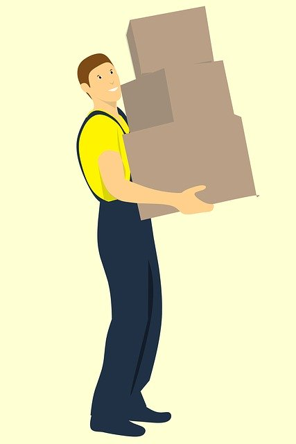 Mover Carrying Boxes - What to do while your movers are doing their job