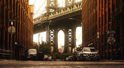 The Brooklyn Bridge.
