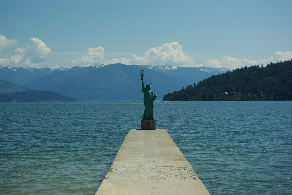 City beach in Sandpoint, one of the best places to retire in Idaho.