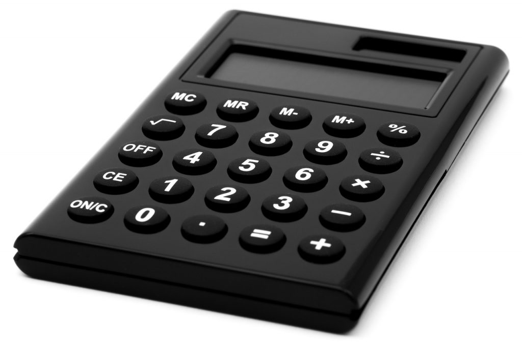 A black calculator will help you to set the budget for long distance househunting in North Carolina.