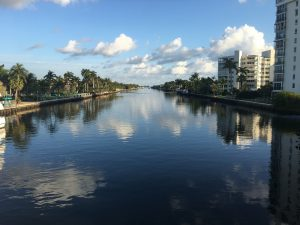 A waterway in Delray Beach, the area you maight consider when buying a family home in this city.