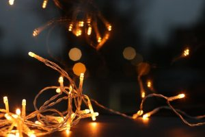 Personalize your new rental home with Christmas lights.