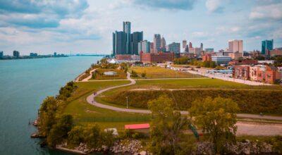 Detroit city panorama