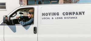 A moving company van  you can rent after you find something appropriate  among real estate rends in Kanata.