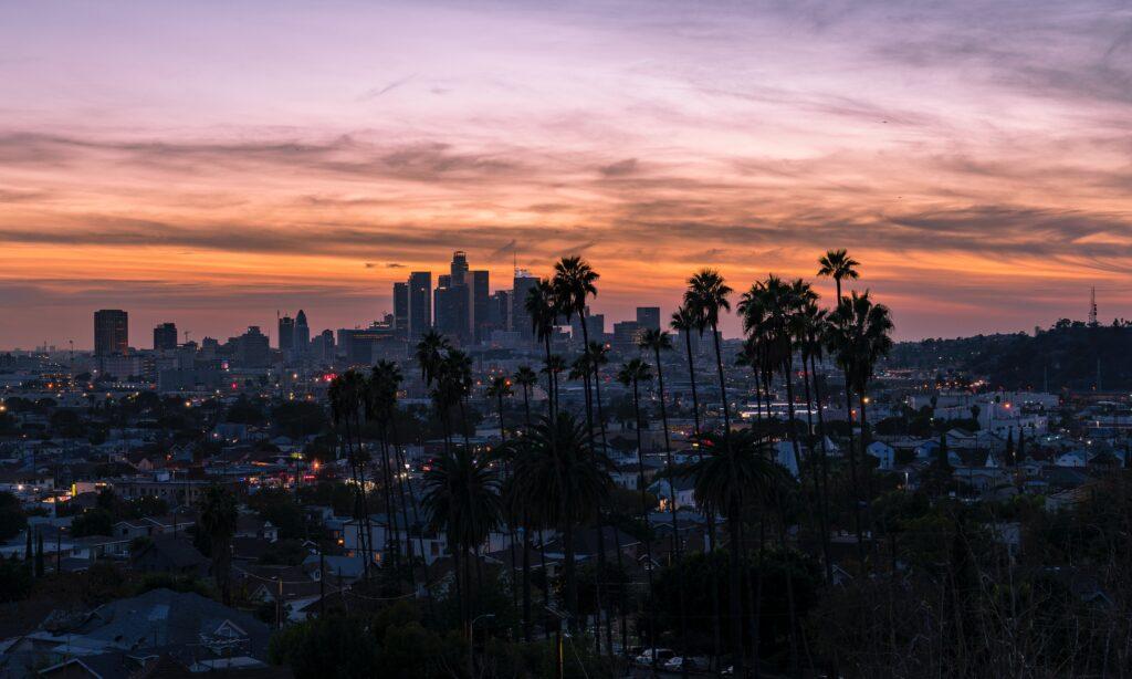 Aerial photo of Los Angeles