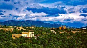 Santa Fe city view.