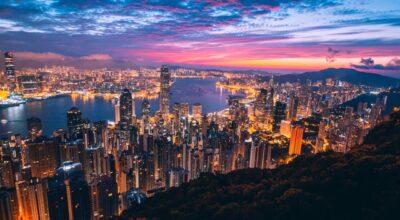 Aerial photo of Hong Kong
