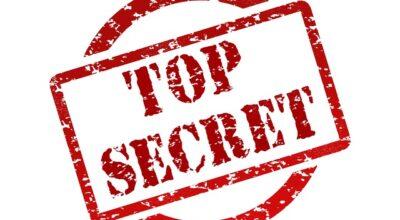 Top secret sign.